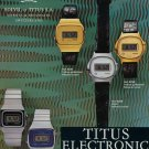 1976 Solvil et Titus Watch Company Switzerland 1976 Swiss Ad Suisse Advert Horlogerie Horology