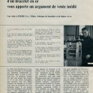 Idebe S.A. Company Milan 1963 Swiss Magazine Article Horlogerie Horology