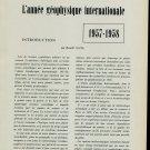 L'Annee Geophysique Internationale 1957-1958 Vintage 1958 Swiss Magazine Clippings Suisse