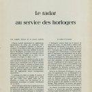 1958 Gradoscop Le Radar au Service des Horlogers 1958 Swiss Magazine Article Horology Horlogerie