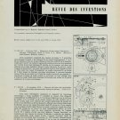 1958 Horology Patents Inventions Brevets Horlogerie 1958 Swiss Magazine Article Suisse Switzerland