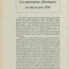 Les Exportations d'Horlogerie en Mai et Juin 1958 Vintage Swiss Magazine Article Horology Suisse