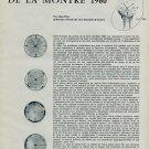 Creation et Esthetique de la Montre 1960 Swiss Magazine Article by Alain Wyss Horlogerie Horology