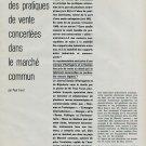 1960 L'Avenir des Pratiques de Vente Concertees Swiss Magazine Article Horology Horlogerie