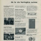 1960 Mido Watch Company Breitling Buren IWC Vintage 1960 Swiss Magazine Clipping Horology Horlogerie