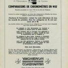 1953 Vacheron Constantin Watch Company Vintage 1953 Swiss Ad Suisse Advert Vacheron et Constantin