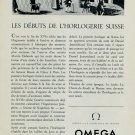 1953 Omega Watch Company Switzerland Vintage 1953 Swiss Ad Suisse Advert Horlogerie Horology