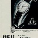 1953 Titus Watch Company Geneva Switzerland 1953 Swiss Ad Suisse Advert Paul Ditisheim SA