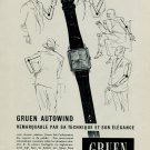 1953 Gruen Watch Company Switzerland Vintage 1953 Swiss Ad Suisse Advert Horlogerie Horology