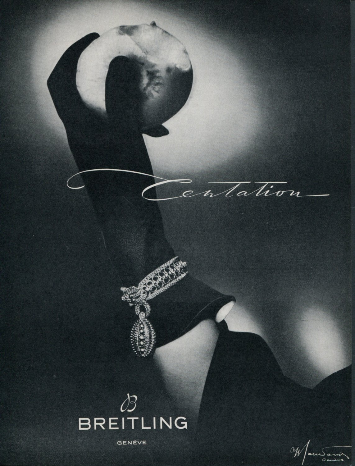 1953 Breitling Watch Company Centation Advert 1953 Swiss Ad Suisse Advert Horlogerie Switzerland