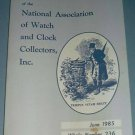 NAWCC #236 June 1985 National Watch & Clock Collectors Bulletin Horology Horlogerie