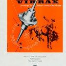 1953 EMO SA Vibrax Switzerland Original 1950s Swiss Print Ad Publicite Suisse Horlogerie Horology