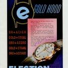 1953 Election Watch Company Switzerland Vintage 1953 Swiss Ad Suisse Advert Horology Horlogerie