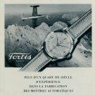1953 Fortis Watch Company Switzerland Vintage 1953 Swiss Ad Suisse Advert Horlogerie Horology