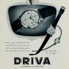 1953 Driva Watch Company Geneva Switzerland Vintage 1953 Swiss Ad Suisse Advert Horlogerie Horology