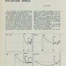 1953 l'Influence de la Forme des Bouts de Pivots 1953 Swiss Magazine Article Horlogerie Horology