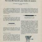 1953 Bergeon Une Nouvelle Barrette Pour Boites de Montres 1953 Swiss Magazine Article Horlogerie
