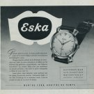 1951 Eska Watch Company Switzerland Vintage 1951 Swiss Ad Suisse Advert Horology Horlogerie