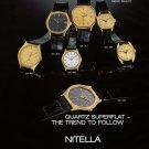 Nitella Watch Company Tramelan Switzerland 1980 Swiss Ad Suisse Advert Horology Horlogerie