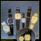Bulova Watch Company Switzerland Stelux Watch Co. 1980 Swiss Ad Suisse Advert Horlogerie Horology