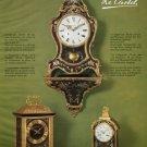 Le Castel Clock Company Wermeille & Co Switzerland 1980 Swiss Ad Suisse Advert Horlogerie Horology