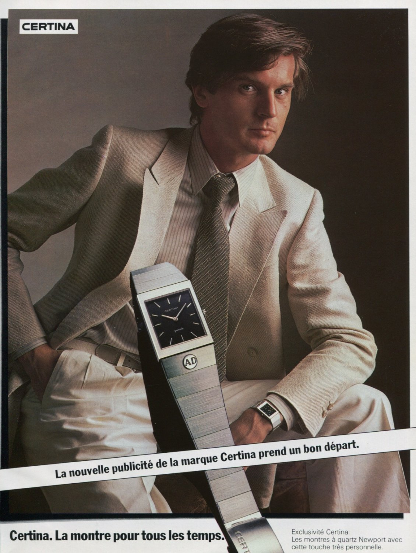 Certina Watch Company Switzerland 1980 Swiss Ad Suisse