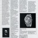 1969 IWC International Watch Company Les Gnomes de Schaffhouse 1969 Swiss Ad Suisse Advert