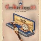 1949 Buren Watch Company Switzerland Vintage 1949 Swiss Ad Suisse Advert Horlogerie Horology