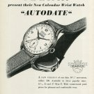 1949 Marvin Watch Company Switzerland Vintage 1949 Swiss Ad Suisse Advert Horlogerie Horology