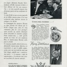 1956 Marvin Watch Company KLM Flying Dutchman 1956 Swiss Ad Suisse Advert Netherlands Airlines