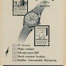 1955 Rotary Watch Company La Chaux De Fonds Switzerland 1955 Swiss Ad Suisse Advert