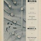 1955 Mildia Watch Company La Chaux-de-Fonds Switzerland Vintage 1955 Swiss Ad Suisse Advert