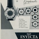 Invicta Watch Company Invicta Graphomatic Advert 1955 Swiss Ad Suisse Advert Horlogerie Horology