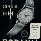1955 Rodania Watch Company Grenchen Switzerland Vintage 1955 Swiss Ad Suisse Advert Horology