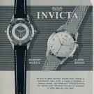 1955 Invicta Watch Co. Toutes Dernieres Creations Ad 1955 Swiss Ad Suisse Advert Switzerland