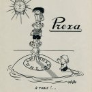1953 Prexa Watch Company Switzerland Vintage 1953 Swiss Ad Suisse Advert Horlogerie