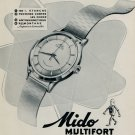 1953 Mido Watch Company Switzerland Mido Multifort Advert 1953 Swiss Ad Suisse Advert (French Text)