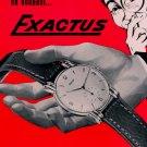 1953 Exactus Watch Company Montres Exactus SA Advert 1953 Swiss Ad Suisse Advert