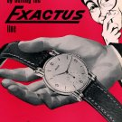 1954 Exactus Watch Company Neuchatel Switzerland Vintage 1954 Swiss Ad Suisse Advert Horology