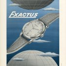1953 Exactus Watch Company Neuchatel Switzerland Vintage 1953 Swiss Ad Suisse Advert Horlogerie