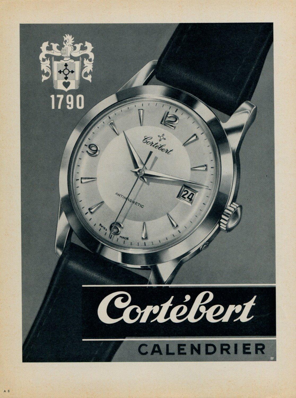 1955 Cortebert Watch Company Switzerland Vintage 1955 Swiss Ad Suisse Advert