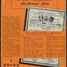 1953 Rolex Watch Company Montres Rolex SA Geneva Switzerland Vintage 1953 Swiss Print Ad Suisse