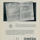 1953 Omega Watch Company Olympics Olympiques Vintage 1953 Swiss Ad Suisse Advert Switzerland