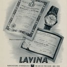 1953 Lavina Watch Company Villeret Switzerland Fiedler SA Vintage 1953 Swiss Ad Suisse Advert