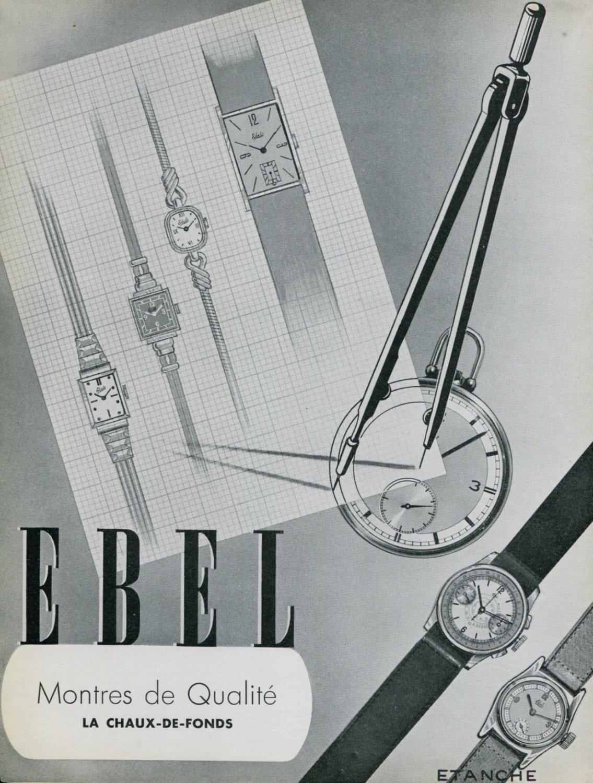 1939 Ebel Watch Company La Chaux-de-Fonds Switzerland Vintage 1939 Swiss Ad Suisse Advert Horology