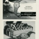 1949 Aster Watch Company Delbana Watch Company 1949 Swiss Ad Suisse Advert Horlogerie