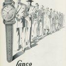 1949 Lanco Watch Company Langendorf Watch Co Switzerland Vintage 1949 Swiss Ad Suisse Advert