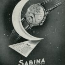 1949 Sabina Watch Company Paul-Virgile Mather S.A. Switzerland Vintage 1949 Swiss Ad Suisse Advert