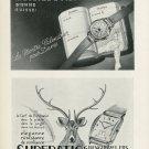 1949 Arbu Watch Company A Bueche & Fils Superatic Watch Co. Vintage 1949 Swiss Ad Suisse Advert
