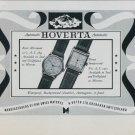 1949 Hoverta Watch Company H. Hofer Ltd. Grenchen Switzerland Vintage 1949 Swiss Ad Suisse Advert